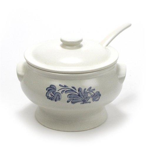 Stoneware Soup Tureen - Yorktowne by Pfaltzgraff, Stoneware Soup Tureen, Ladle