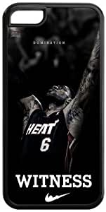 NBA Miami Heat LeBron James Iphone 5c Case Witness MVP LeBron James Best Durable Cases Cover by supermalls