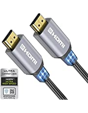 8K HDMI Kabel 2.1 2M 48Gbps High Speed HDMI Kabel 4K 120Hz 8K 60Hz Ondersteunen Dol-by HDR10+ eARC 3D Compatibel met HDMI 2.0a 2.0b 8K 4K TV Playstation5 PS4 PS3 Xbox Series X HDTV Monitor PC