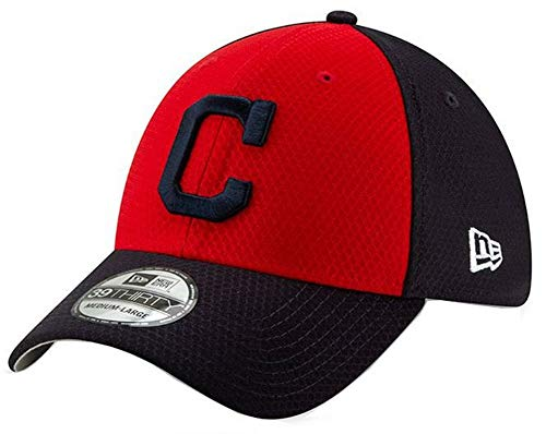 New Era 2019 MLB Cleveland Indians Batting Practice Hat Cap 39Thirty 3930 (M/L) Red/Black