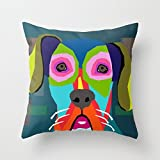 loveloveu throw pillow case of dogs,for bedding,him,divan,dinning room,christmas,club 18 x 18 inches / 45 by 45 cm(twin sides)
