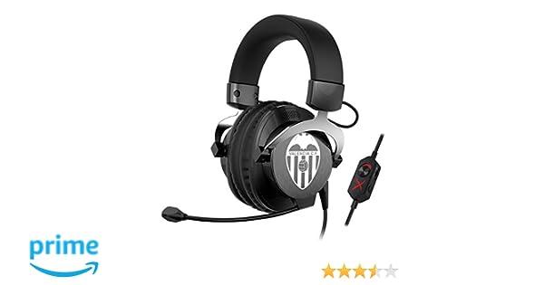 Creative Labs Sound BlasterX H5 Valencia CF Edition - Auriculares de Diadema Cerrados (con micrófono, para Juegos analógicos Profesionales), Negro y Blanco: ...