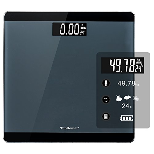 TOP-MAX Digital Bathroom Scale, Precise Body Weight Scale wi