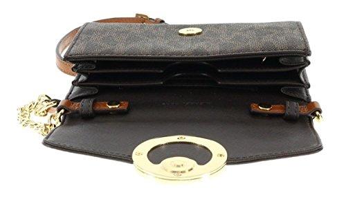 36c0f8e6b6dd Michael Kors Hudson PVC and Leather Large Phone Leather and Chair Strap  Crossbody / Shoulder Handbag
