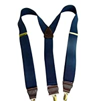 Hold-Ups Dark Ocean Blue Y-back Casual Series Holdup Suspender w/ Gold Clip