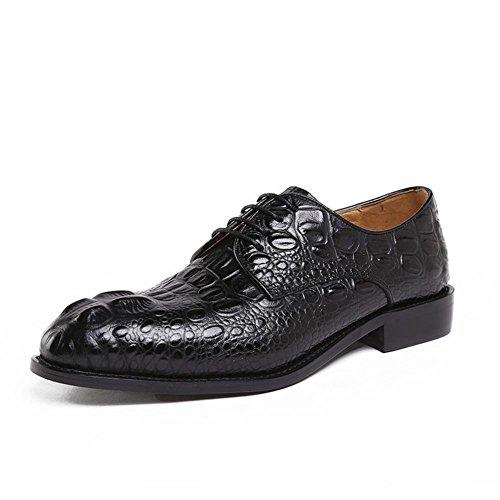 XIE Männer Krokodil Muster Halbschuhe Leder Schuhe Hochzeit Formal Geschäft Schnüren Schwarz Büro Arbeit Party Größe 38-44