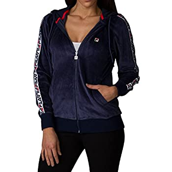 - 41KWDl4MZvL - Fila Women's Maureen Velour Jacket