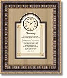 heartfelt General Sentiments Framed Wall Clocks Anniversary 15'' W X 18'' H
