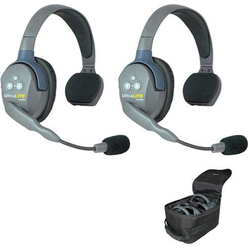 EARTEC UL2S Ultralite 2-Person System, Includes Single-Ear Master Headset and Single-Ear Remote Headset from EARTEC