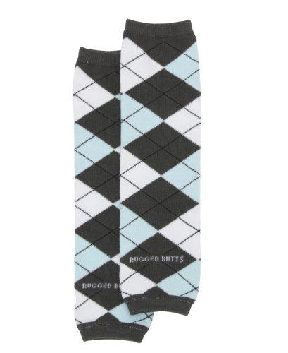 Knit Striped Leg Warmers - 8