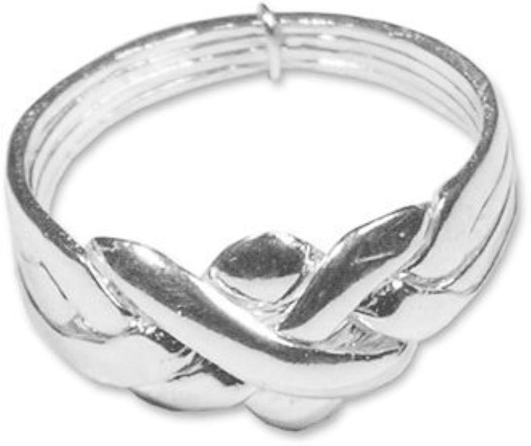 Alianza turca de 4 aros, anillo de la sultana, de plata de ley, disponible en diferentes tallas: Amazon.es: Joyería