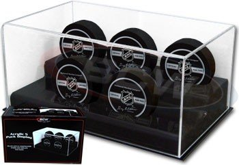 BCW Deluxe Acrylic 5 Hockey Puck Display - 1 Display per Each ()