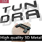 Auto Rover 3D Raised Tailgate Zinc Alloy Letters for Toyota Tundra 2014-2019 Metal Inserts with 3M adhesive backing (Matte Black)