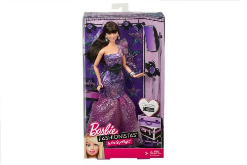 Barbie - Y7497 - Poupée - Fashionista Fashionista Fashionista - Robe de Soirée - Mauve 09b65a