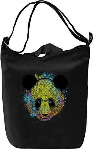 Splash Panda Borsa Giornaliera Canvas Canvas Day Bag| 100% Premium Cotton Canvas| DTG Printing|