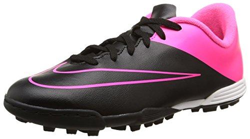 Nike Jr Mercurial Vortex II TF, Niños Botas de fútbol Rosa / Negro