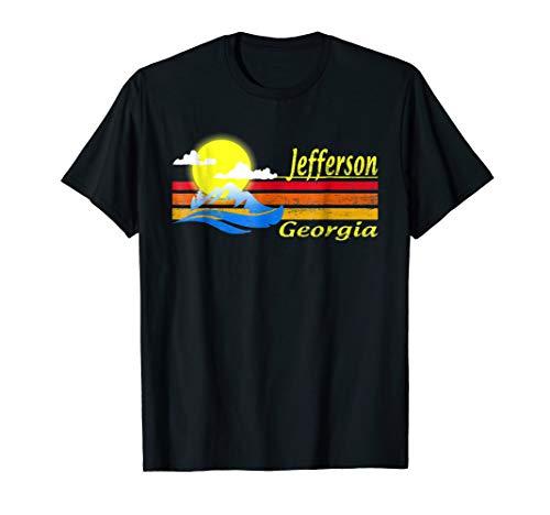 Georgia - Vintage 1980S Style Jefferson, GA T Shirt