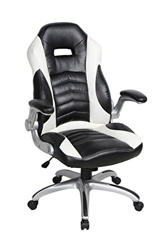 viva-office-high-back-bonded-leather-executive-racing-style-home-office-chair-with-flip-up-armrestbl