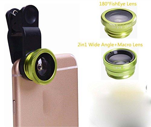 3 in 1 Macro/Fish-eye/Wide Universal Clip Lens (green) - 1
