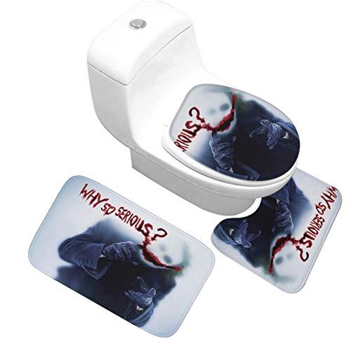 Halloween Skull Bathroom 3 Piece Non Slip Absorbent Super Cozy Flannel Bath...