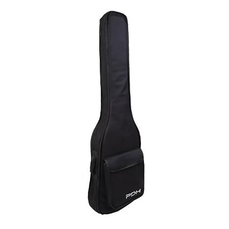 Funda para Guitarra Eléctrica de Nylon Impermeable Esponja Acolchada Mochila para Guitarra con Bolsillo para Guardar