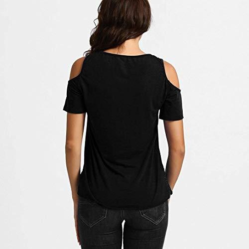 paules Tshirt T Tops Plier Col Nues Spcial Creux pissure Courtes Shirt Style Shirts Mode Elgante Rond Dentelle Uni Casual Manche Qualit De Schwarz Femme Et Haute Manches HrqwHXC6