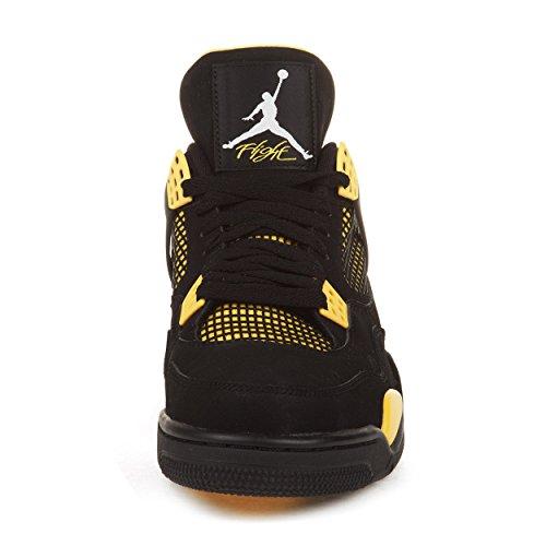 Nike Mens Air Jordan 4 Retro Quot Thunder Quot Black White Tour