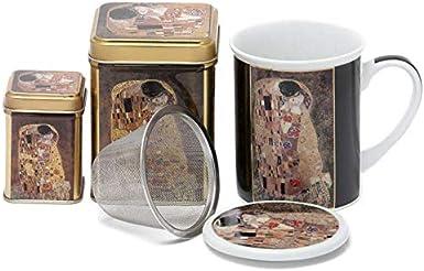 Aromas de Té - Pack Conjunto de Tisanera/Taza para Té de Porcelana ...