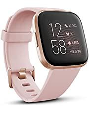 Fitbit FB507RGPK-FRCJK Versa 2 Premium Health and Fitness Smartwatch, Petal/Copper Rose