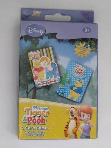 Pooh Memory Match - Disney My Friends Tigger & Pooh Memory Match & Crazy Eights Card Games