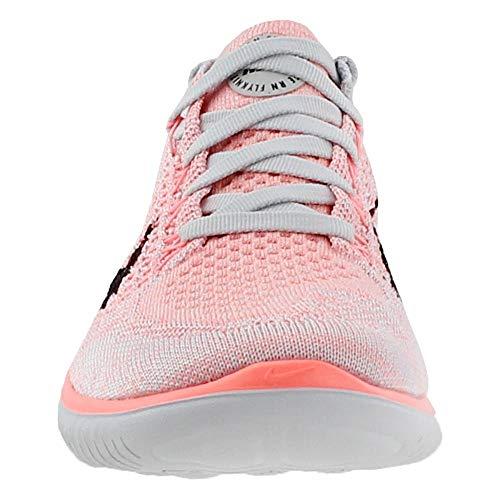 Nike Women's Free Rn Flyknit 2018 Crimson Pulse/Black Ankle-High Running Shoe - 5.5M by Nike (Image #4)