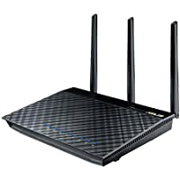 ASUS AC1750 Wireless Dual Band (5GHz + 2.4GHz) Gigabit Wi-Fi Router [RT-AC66U] 802.11ac 1750 Mbps Speed, 4x Gigabit LAN Ports, 256MB, AiProtection, AiCloud File Sharing, AiRadar Signal Optimization