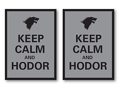 100 Keep Calm and Hodor Deck Protectors Legion Supplies Matte Finish Sleeves 2-Packs - Standard Magic the Gathering Size
