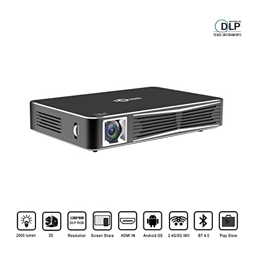 "3D Video Projector, V3 Mini Projector with Full LED HD 1080P and 300"" Display, 1280x800 HDMI VGA AV TV and Smartphone for Home Theater, Bussiness, Office"