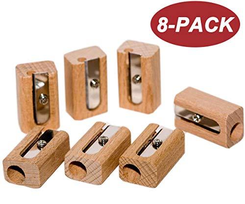 - Wekoil Manual Wooden Pencil Sharpener Cutter Standard Size One Hole Pocket Sharpener Sharpening Jumbo/Graphite Pencils Wood-cased Colored Pencils Pack-8