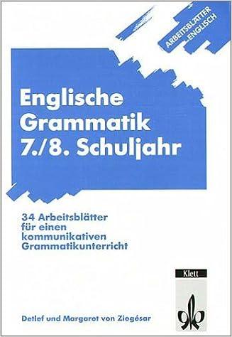 Arbeitsblätter Englisch/Englische Grammatik 7./8. Schuljahr: Amazon ...