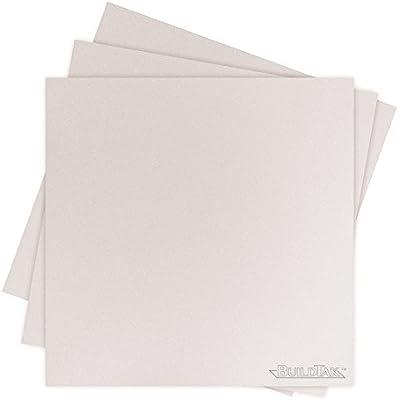 White 4.5 x 4.5 Ideal Jacobs Corp. 4.5 x 4.5 BuildTak BT45X45WT-3PK Sheet