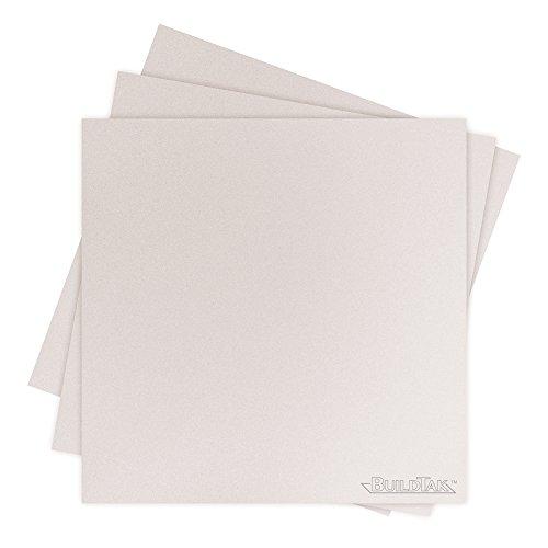 BuildTak BT45X45WT-3PK Sheet,  4.5'' x 4.5'', White by BuildTak