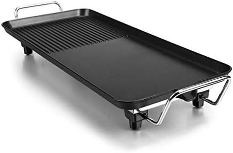 YUYAXPB Gril Barbecue électrique Teppanyaki, Grande Plaque Chauffante électrique Solide, Barbecue Intérieur Portable, Contrôle De La Température Réglable