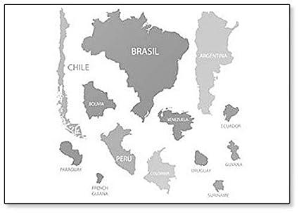 Amazon.com: South America Countries Maps Fridge Magnet ...
