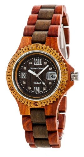 Discovery Watch (Tense Wood Discovery Compass Watch Rosewood/Green Mens Roman G4100RG)