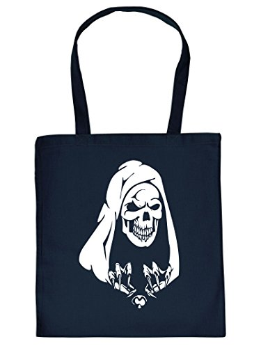 Totenkopf Halloween Tote Bag Henkeltasche Beutel mit Aufdruck Tragetasche Must-have Stofftasche Geschenkidee