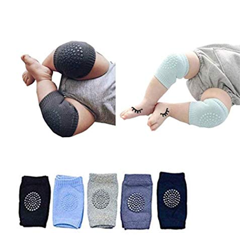Baby Crawling Anti Slip Knee Pads Unisex Clothing Accessories Toddler Leg Warmer Safety Protective Cover Toddlers Learn to Socks Children Short Kneepads-5 Pairs