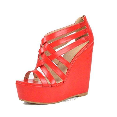 Vestir Sandalias Red garlos de de para Piel Mujer 1ExwO