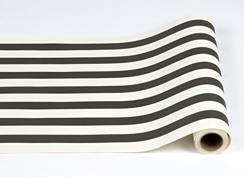Black and White Striped Paper Table Runner - 25' Long x 20