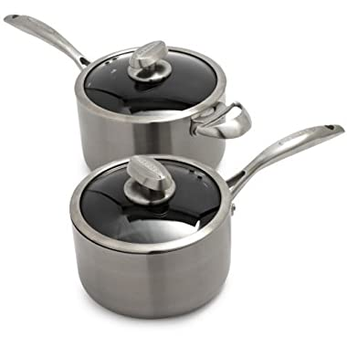 Scanpan CTQ Nonstick Saucepan with Lid 69231600, 2 qt.