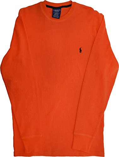 Polo Ralph Lauren Waffle Knit Crew Neck Top, African Orange Small