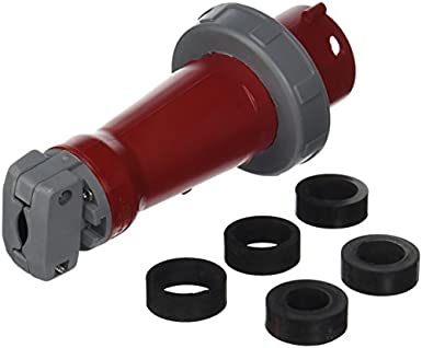 3 Phase Red 3P+E // 3P4W Cable Mount Socket 480 V 20 A Pin /& Sleeve Connector