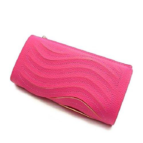 Bolso de señora, incluye 2 asas, diseño de ondas, BNIB, para fiestas o bodas rosa