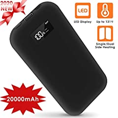 Comlife 2-in-1 Hand Warmer & 20000mah Power Bank features an easy-to-grip shape and size with plenty of battery power to keep your hands warm and toasty for hours. There's no better companion on a cold day or whenever you're feeling chilly!Wh...